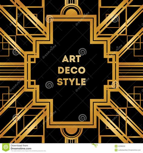 deco templates deco vintage decorative frame retro card design