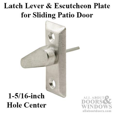Patio Door Latch Lever Latch Lever Escutcheon Plate Sliding Patio Door Diecast Lever Grey
