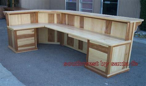 angled reception desk lonestar southwestern reception desks