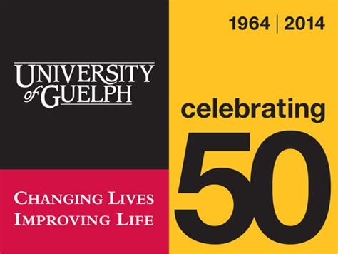 Humber College Letterhead u of g introduces 50th anniversary logo u of g news