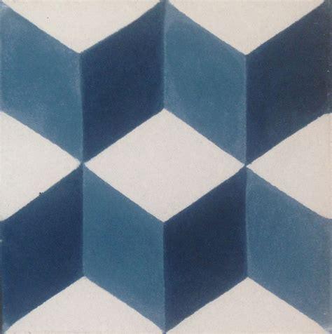 geometric pattern tiles uk geometric 3d encaustic cement tile midnight blue