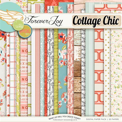 cottage chic store digital scrapbooking kit cottage chic papers