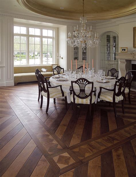 dining room floor parquet flooring hardwood floor border medallion inlays