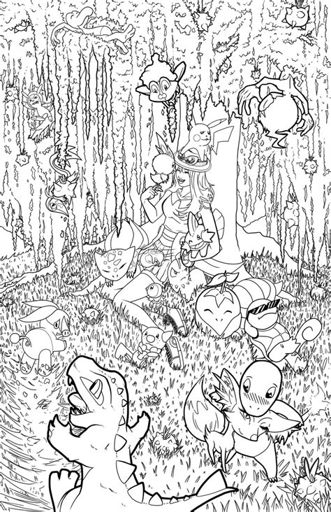 hard coloring pages of pokemon poke art general pok 233 mon forum neoseeker forums