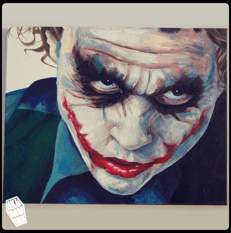 joker oil painting 4 by akumuink on deviantart