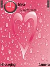 love rain themes download rain on heart nokia theme nokia theme mobile toones