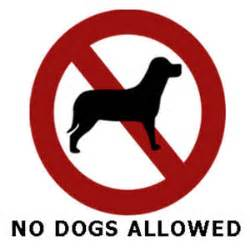 no puppies on the quot no dogs allowed quot sign