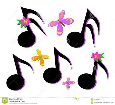imagenes de rosas musicales notas musicales mariposas y flores foto de archivo libre