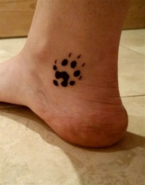 ferret tattoo designs my ferret foot print left lower inner ankle