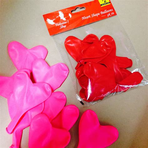 secret valentines shaped balloons might be a idea to