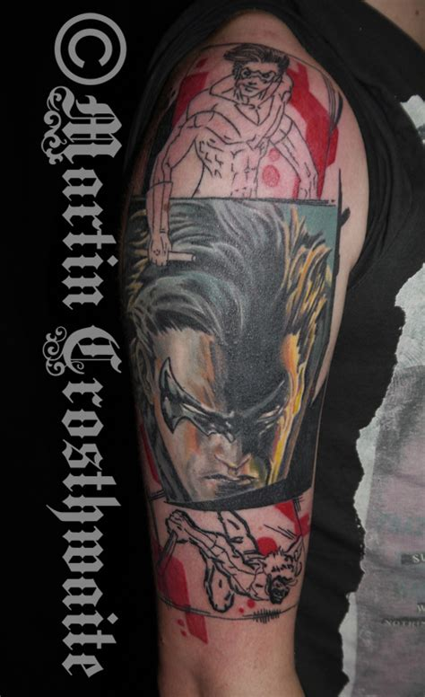 nightwing tattoo nightwing by mxw8 on deviantart
