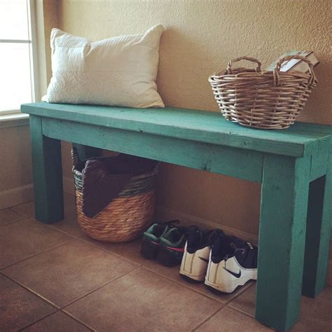 bench diy simple 2x4 diy entryway bench with custom mixed annie sloan chalk paint finish this