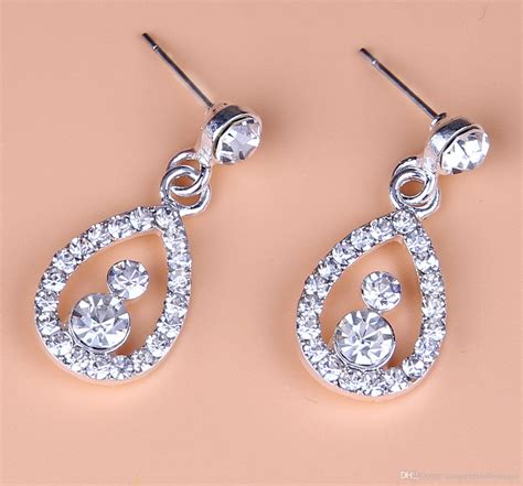 Wedding Crown Earring wedding bridal crown earrings necklace 2017 bridal jewelry