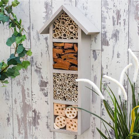 Handmade Hotels - handmade four tier bee hotel by wudwerx
