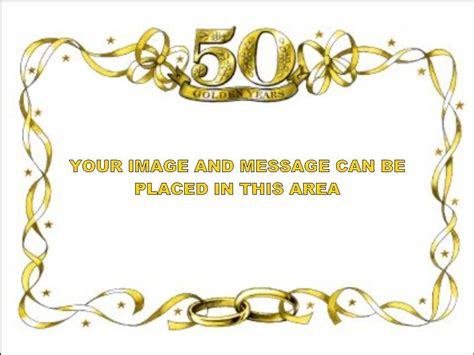 Golden Wedding Anniversary Border by 50th Anniversary Invitations Search 50th