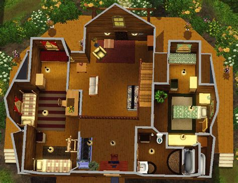 Floor Plans Of My House mod the sims rustic log home