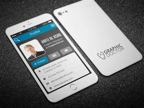 iphone business card template free 25 inspiring exles of creative business cards design
