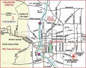 road map of colorado springs colorado springs colorado