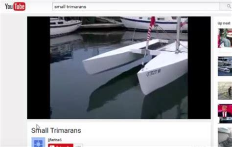 small trimaran videos small trimarans - Trimaran Videos