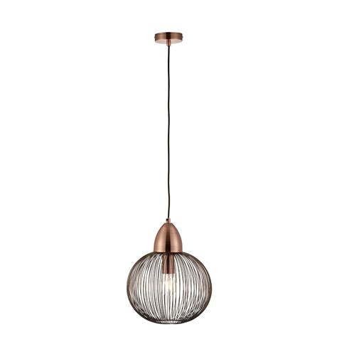 Single Pendant Ceiling Lights Endon Lighting Nicola Single Light Ceiling Pendant In Antique Copper Finish Lighting Type From
