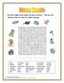 Kitchen Gadgets Crossword free kitchen utensils worksheet kitchen utensils