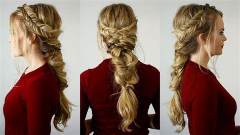 tutorial makeup natural ke kus fishtail topsy tail pony missy sue youtube