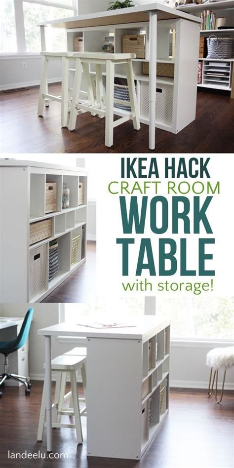 design home hacks that work ikea hack craft room work table craft room tables ikea