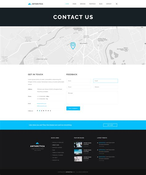 themeforest contact antarctica business portfolio html5 template by