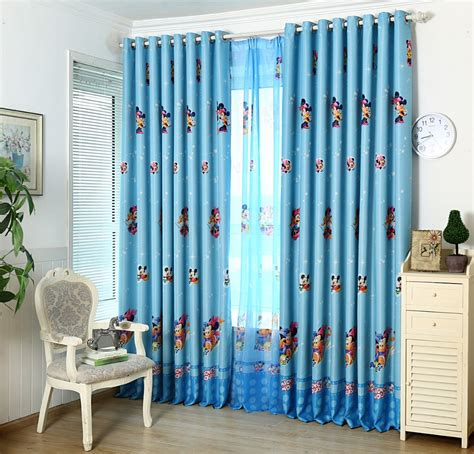 children bedroom curtains the cartoon blue curtain custom window sunshade cloth