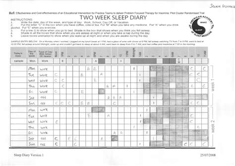 sleep diary template car interior design