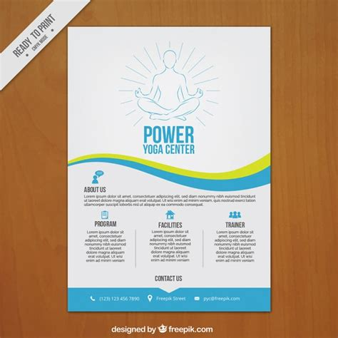 download layout poster hand drawn yoga center poster vector free download