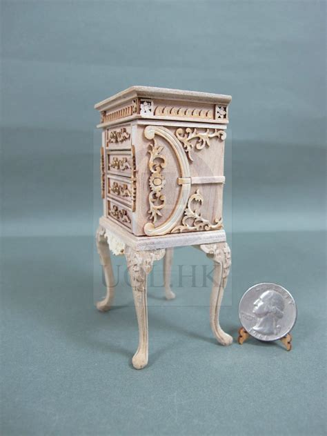 unfinished jewelry armoire miniature 1 12 scale luxurious high body jewelry armoire