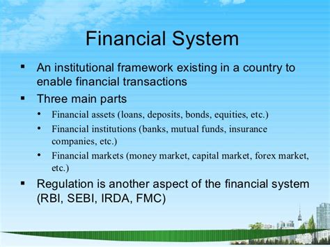 Irda Notes For Mba by Indian Financial System Ppt Bec Doms Mba Bagalkot