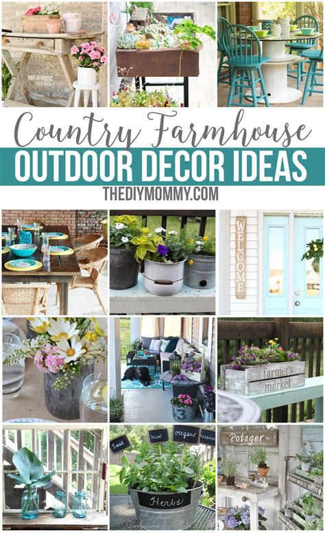 yard and house outside decorations 12 gorgeous country farmhouse outdoor d 233 cor ideas the