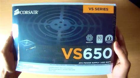 Corsair Vs Series Vs650 Psu Atx Power Supply True Gaming 650w 650 Watt corsair vs series vs650 atx eps 80 plus power supply