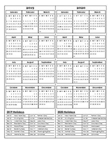 yearly calendar  printable annual calendar templates