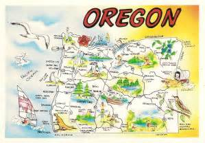 more postcards sts usa map oregon