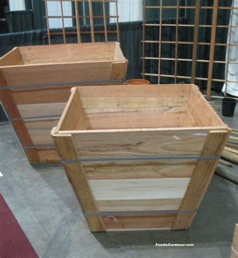 wood box planters wood landscape tree boxes foodie gardener jpg resize 924