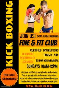 Boxing Poster Template Free by Kickboxing Poster Templates Postermywall