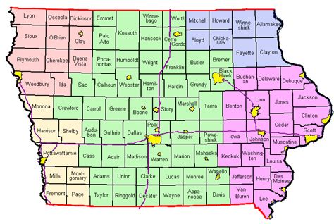 map of iowa counties 301 moved permanently