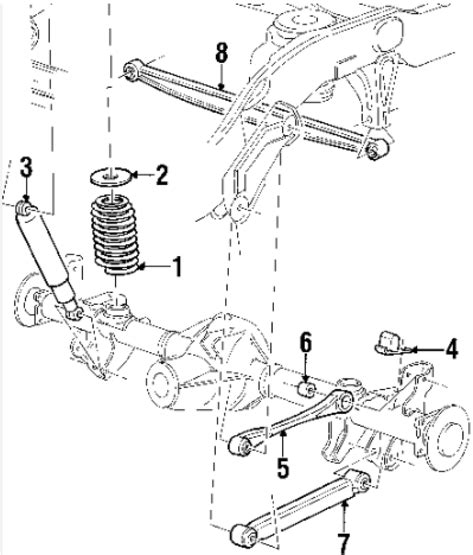 2002 ford taurus rear suspension diagram 8 best images of 2002 ford explorer rear suspension