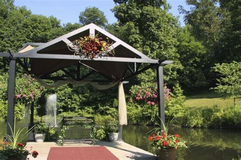 Hocking Hills Woodland Weddings   Pond Gazebo   Hocking
