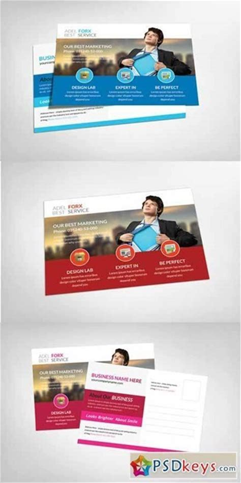 25 New Photoshop Freebies For March Marketing Postcards Templates