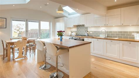 kitchen design sussex white shaker kitchen with wooden worktops burwash east