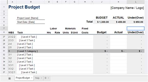 project costing template excel project expenses template excel templates for estimates