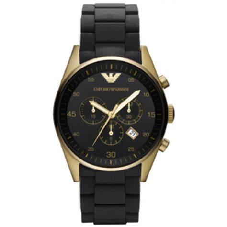 emporio armani ar8023 mens sportivo gold black