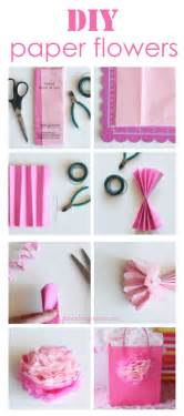 How To Make Easy Paper Flowers - how to make tissue paper flowers i heart nap time