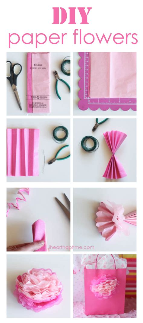 Things To Make Out Of Crepe Paper - how to make tissue paper flowers i nap time