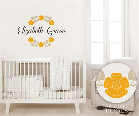 Custom Wall Decals For Nursery Name Wall Decal Nursery Name Wall Decal Custom Wall