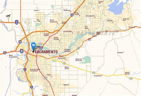 california map where is sacramento sacramento california map